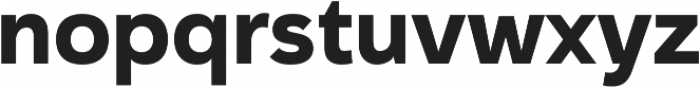 Haboro Sans Norm ExBold otf (700) Font LOWERCASE