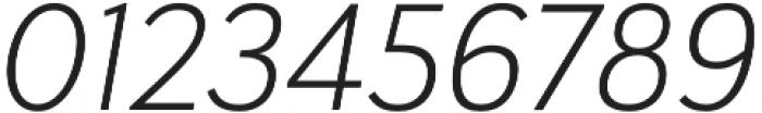 Haboro Sans Norm Light Italic otf (300) Font OTHER CHARS