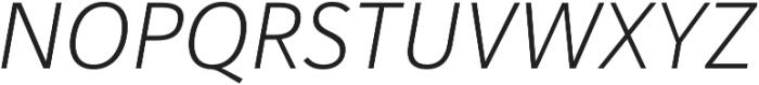 Haboro Sans Norm Light Italic otf (300) Font UPPERCASE