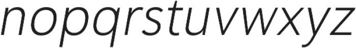 Haboro Sans Norm Light Italic otf (300) Font LOWERCASE