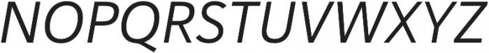 Haboro Sans Norm Regular Italic otf (400) Font UPPERCASE