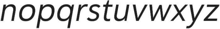 Haboro Sans Norm Regular Italic otf (400) Font LOWERCASE