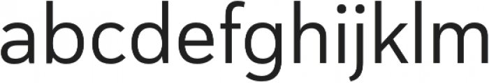 Haboro Sans Norm Regular otf (400) Font LOWERCASE