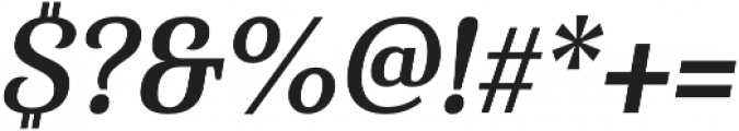 Haboro Serif Cond Bold It otf (700) Font OTHER CHARS