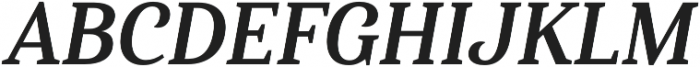 Haboro Serif Cond Bold It otf (700) Font UPPERCASE