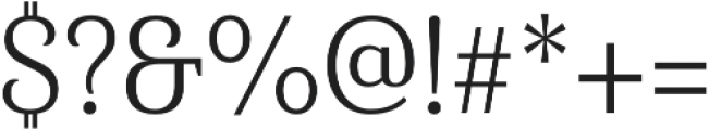 Haboro Serif Cond Book otf (400) Font OTHER CHARS