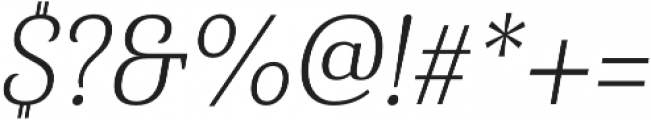 Haboro Serif Cond Light It otf (300) Font OTHER CHARS