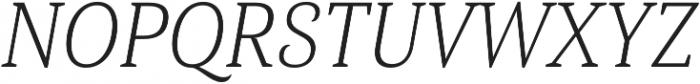 Haboro Serif Cond Light It otf (300) Font UPPERCASE