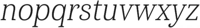 Haboro Serif Cond Light It otf (300) Font LOWERCASE