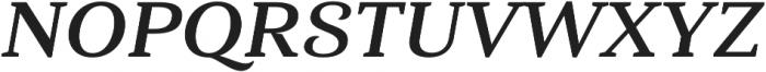 Haboro Serif Ext Bold It otf (700) Font UPPERCASE