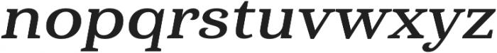 Haboro Serif Ext Bold It otf (700) Font LOWERCASE