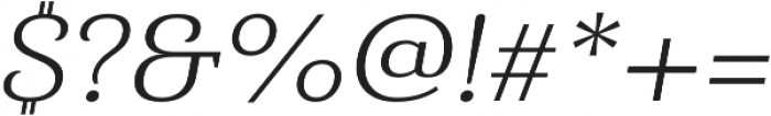Haboro Serif Ext Book It otf (400) Font OTHER CHARS