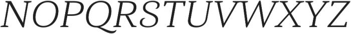 Haboro Serif Ext Book It otf (400) Font UPPERCASE