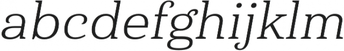 Haboro Serif Ext Book It otf (400) Font LOWERCASE