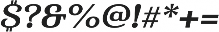 Haboro Serif Ext ExBold It otf (700) Font OTHER CHARS