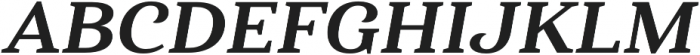 Haboro Serif Ext ExBold It otf (700) Font UPPERCASE