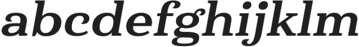 Haboro Serif Ext ExBold It otf (700) Font LOWERCASE