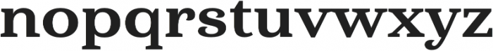 Haboro Serif Ext ExBold otf (700) Font LOWERCASE