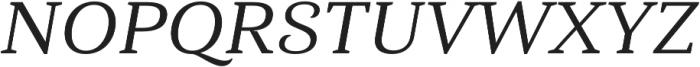 Haboro Serif Ext Medium It otf (500) Font UPPERCASE