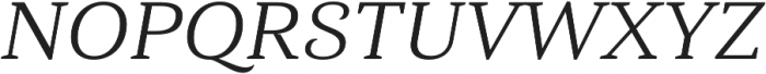 Haboro Serif Ext Regular It otf (400) Font UPPERCASE