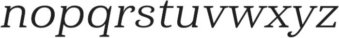 Haboro Serif Ext Regular It otf (400) Font LOWERCASE