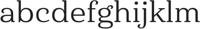 Haboro Serif Ext Regular otf (400) Font LOWERCASE