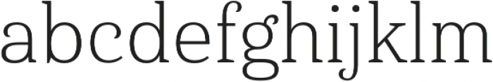 Haboro Serif Norm Light otf (300) Font LOWERCASE