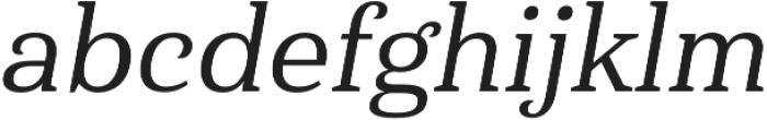 Haboro Serif Norm Medium It otf (500) Font LOWERCASE