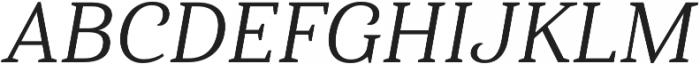 Haboro Serif Norm Regular It otf (400) Font UPPERCASE