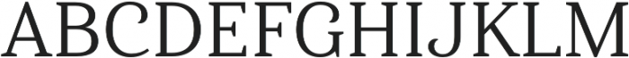 Haboro Serif Norm Regular otf (400) Font UPPERCASE