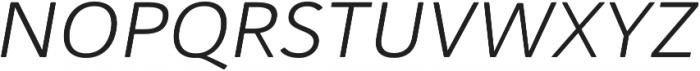 Haboro Soft Ext Book Italic otf (400) Font UPPERCASE