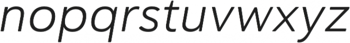 Haboro Soft Ext Book Italic otf (400) Font LOWERCASE