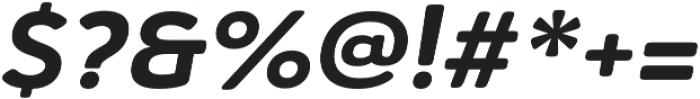 Haboro Soft Ext ExBold Italic otf (700) Font OTHER CHARS