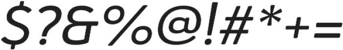 Haboro Soft Ext Medium Italic otf (500) Font OTHER CHARS