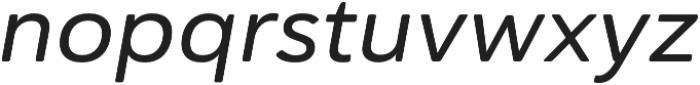 Haboro Soft Ext Medium Italic otf (500) Font LOWERCASE