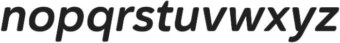 Haboro Soft Norm Bold Italic otf (700) Font LOWERCASE