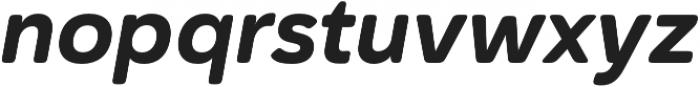 Haboro Soft Norm ExBold Italic otf (700) Font LOWERCASE