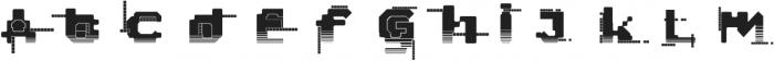 Hacked Regular otf (400) Font LOWERCASE