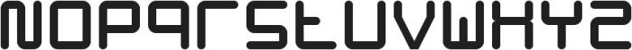 Hacker ttf (400) Font LOWERCASE