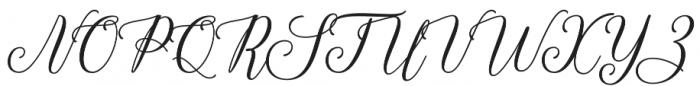 Hadhelia Script Regular otf (400) Font UPPERCASE