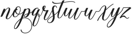 Hadhelia Script Regular otf (400) Font LOWERCASE