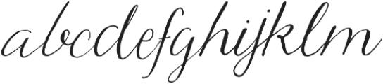 Hadley otf (400) Font LOWERCASE
