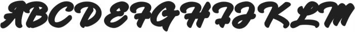 Hadsut Extruded otf (400) Font UPPERCASE