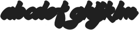 Hadsut Extruded otf (400) Font LOWERCASE