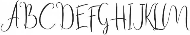 Haertbel Script Regular otf (400) Font UPPERCASE