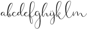 Haertbel Script Regular otf (400) Font LOWERCASE