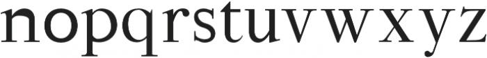 Hagito otf (400) Font LOWERCASE
