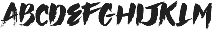 Hai Brush otf (400) Font UPPERCASE
