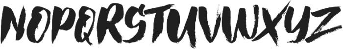 Hai Brush otf (400) Font LOWERCASE