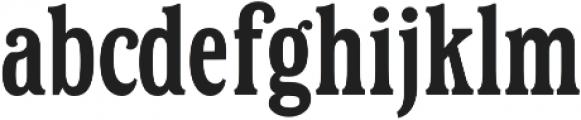 Hailgate Condensed otf (400) Font LOWERCASE